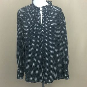 NWT The Limited Eclipse Black Marsh L/S Blouse L